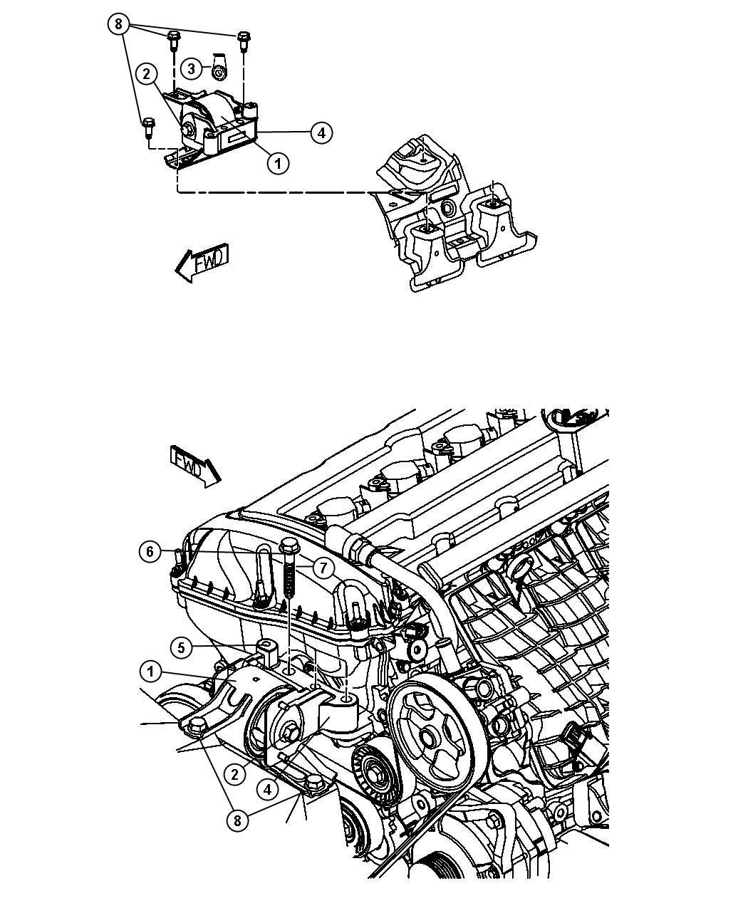 Dodge Caliber Bolt Hex Flange Head M10x1 25x65 00