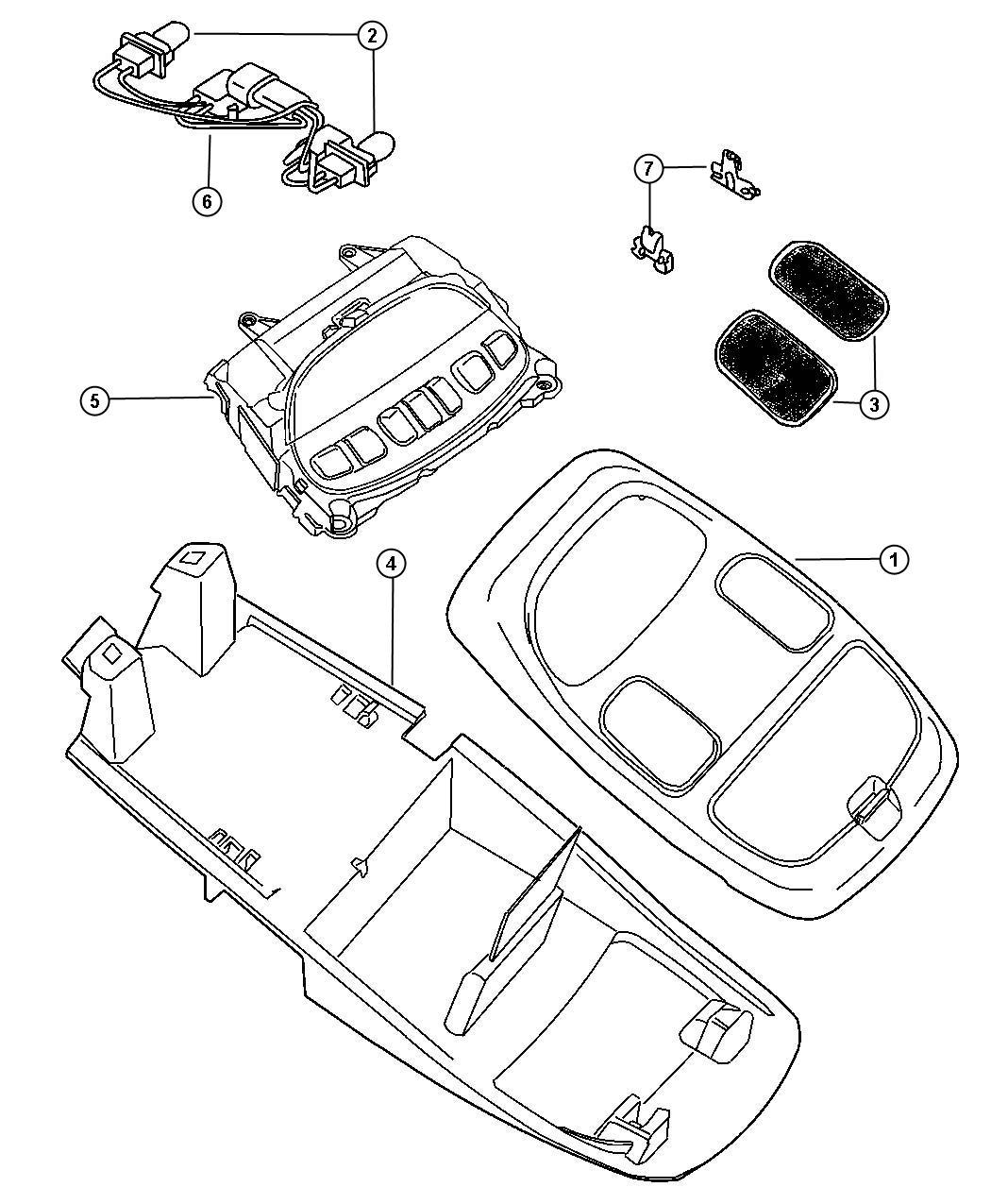 Dodge Ram Wiring Overhead Console Trim All
