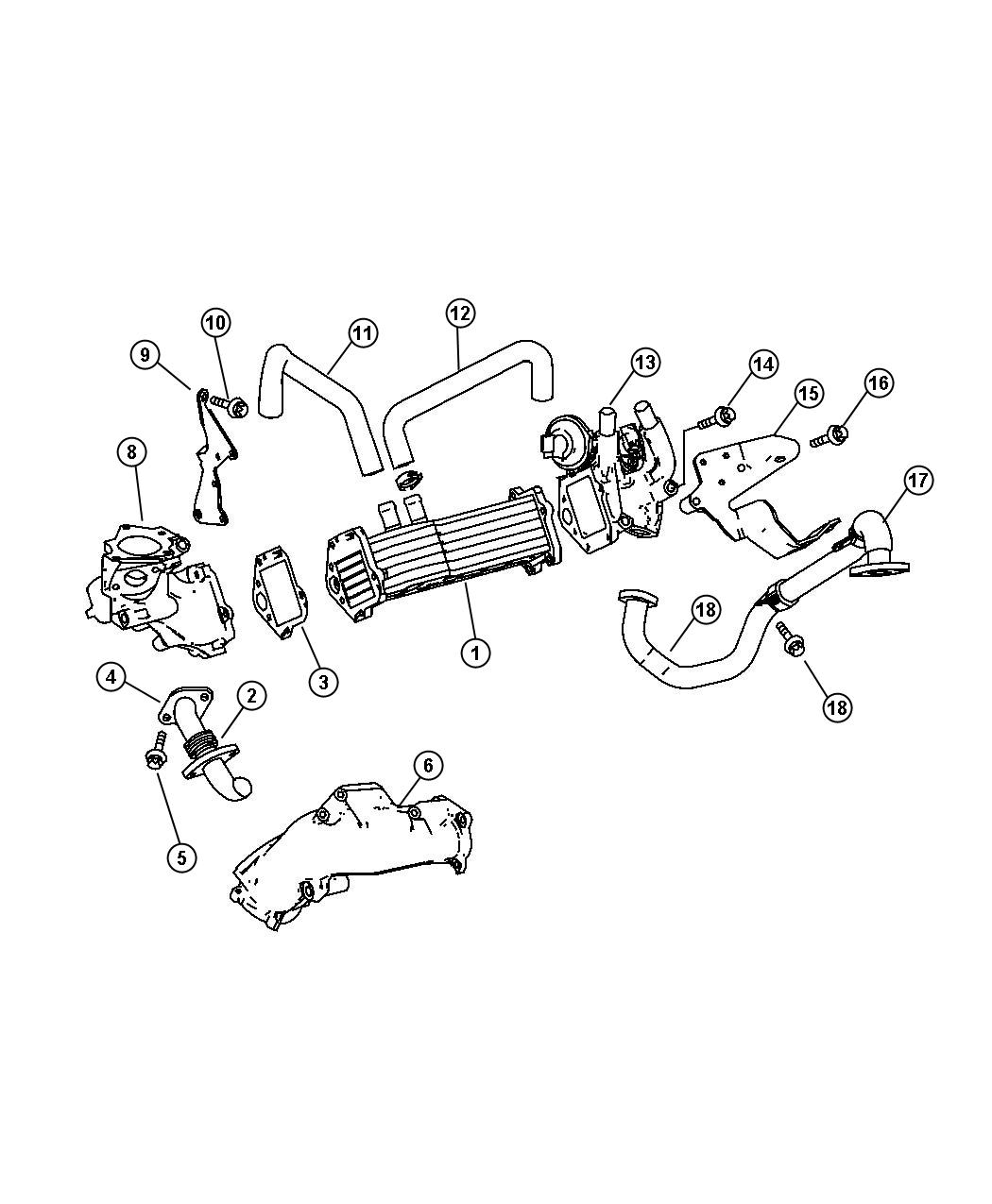 Dodge Sprinter Cooler Egr Exhaust Engine