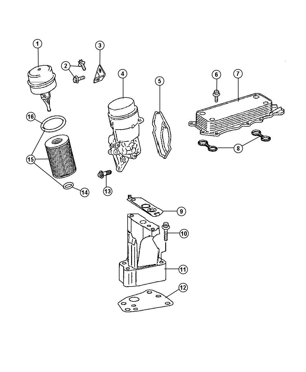 Jeep Patriot Cooler Oil Engine Filtersel