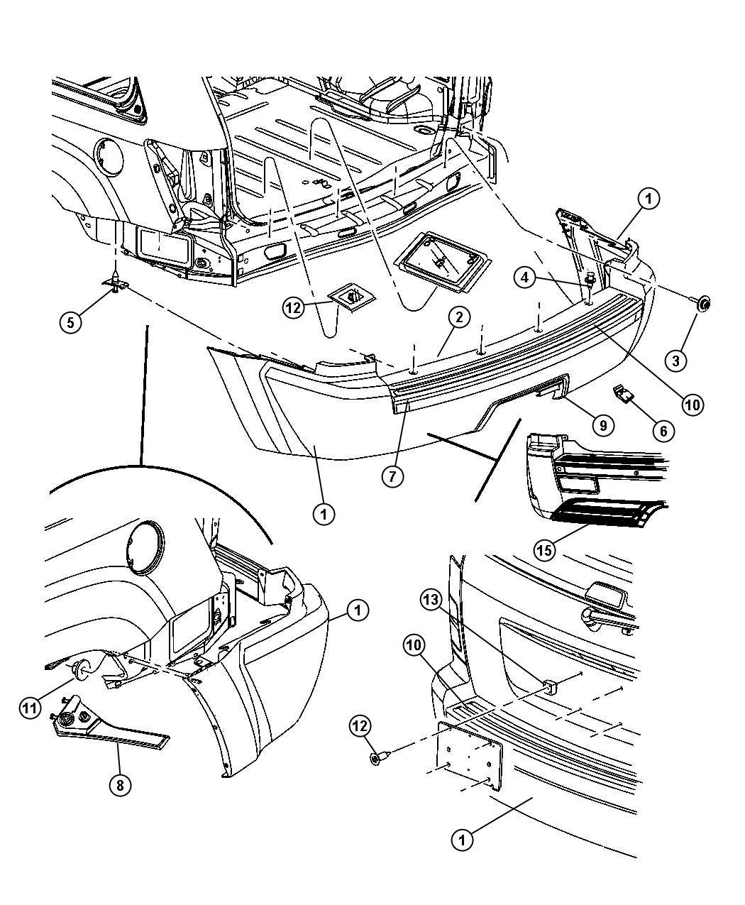 Jeep Grand Cherokee Pin Push Facia To Fender