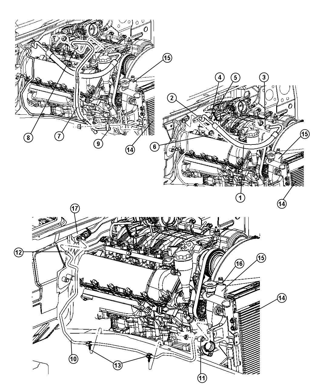 Jeep Grand Cherokee Line A C Discharge Engine