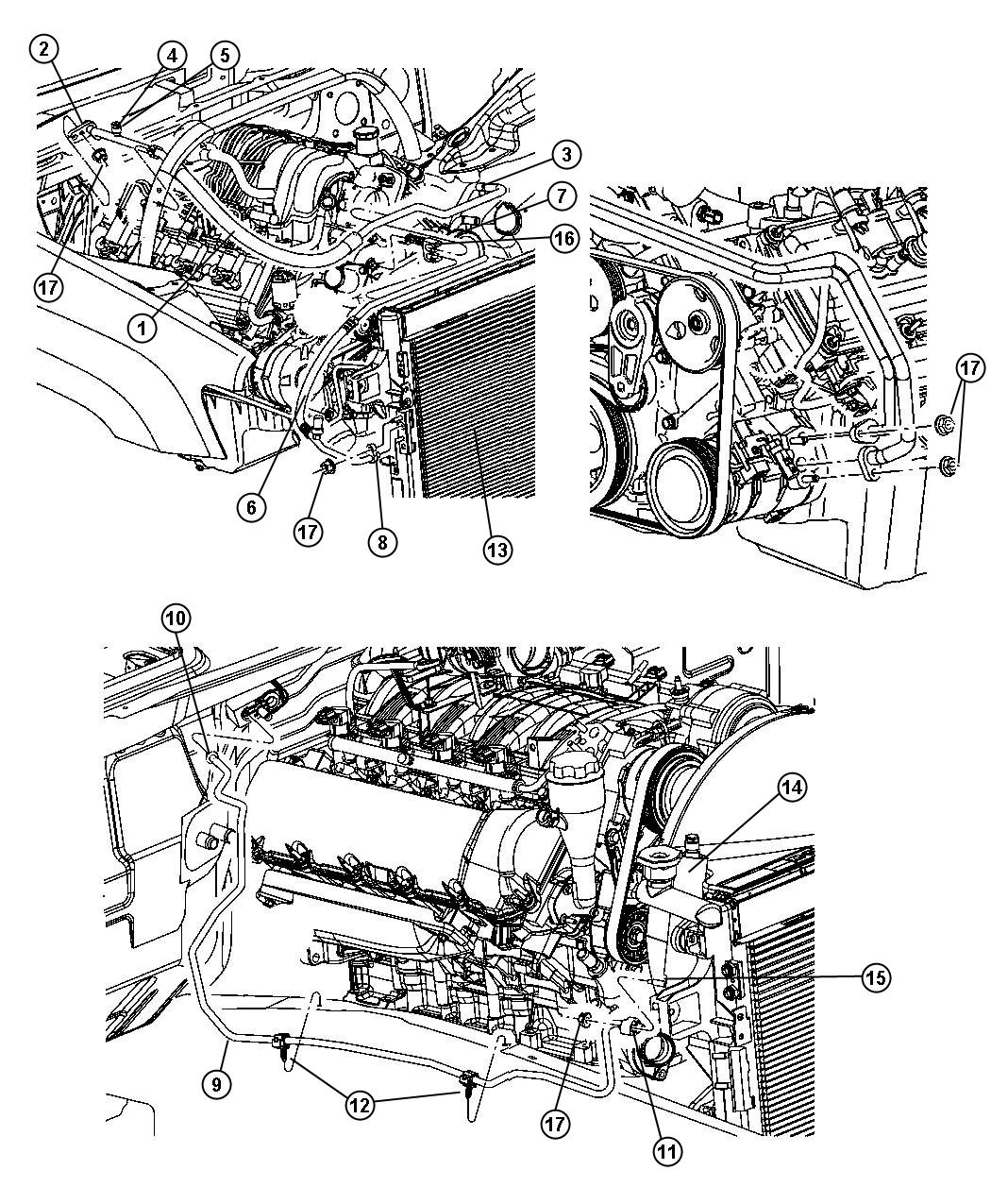 Jeep Grand Cherokee Line A C Discharge Engine Hemi