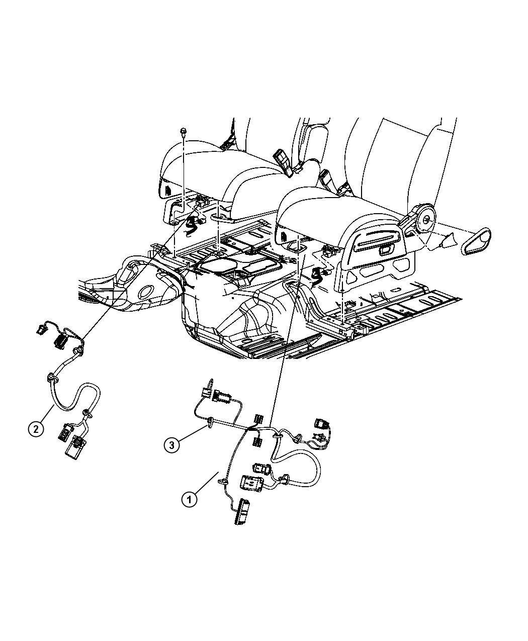 Dodge Nitro Wiring Seat 6 Way Power Fold Flat Seat
