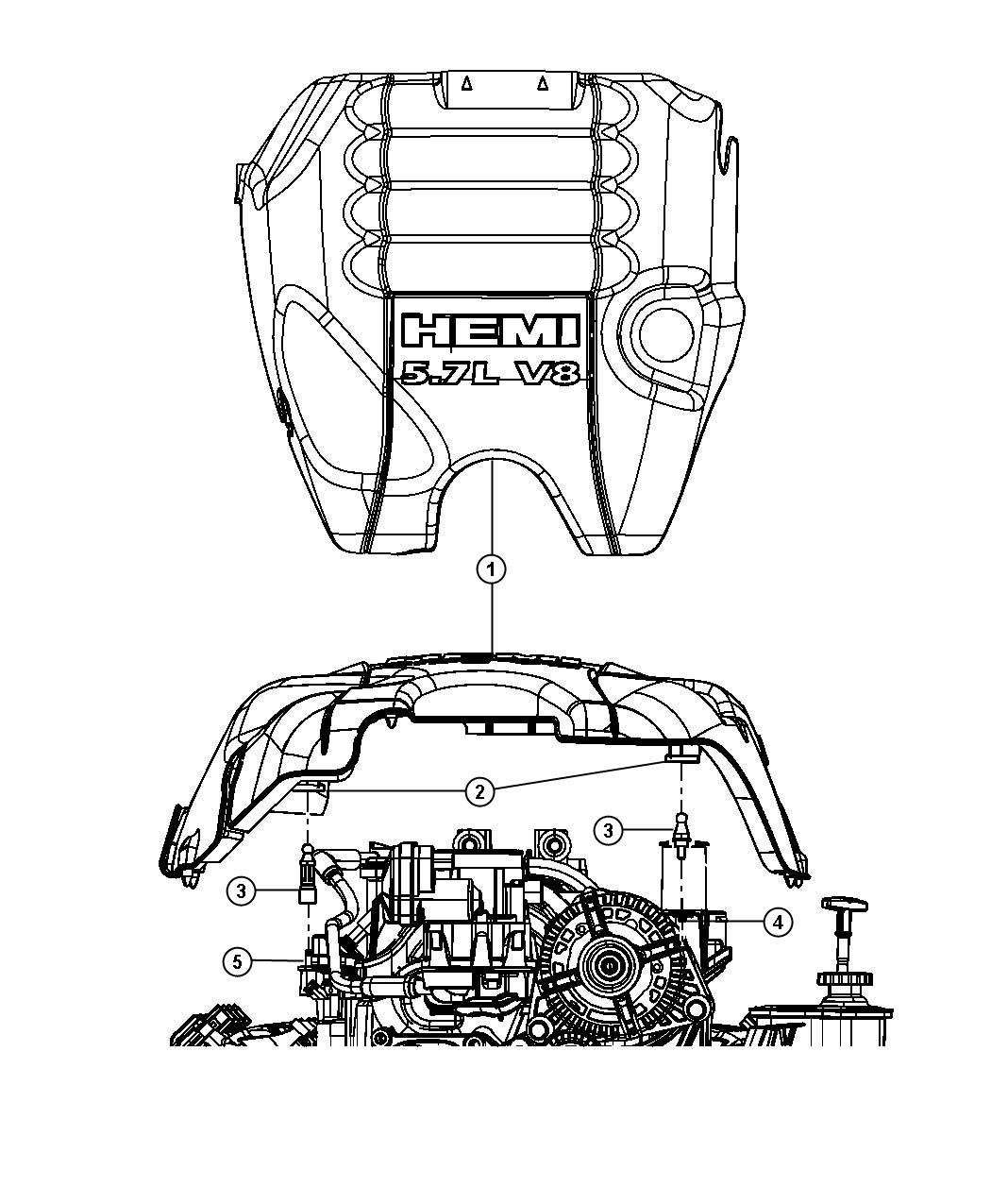 Dodge Ram Ball Stud Engine Cover Attach