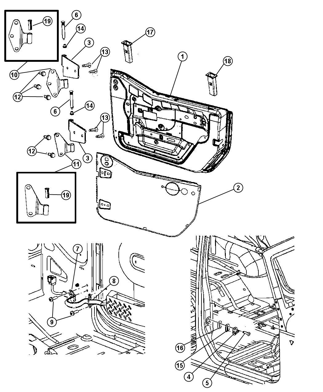 Jeep Wrangler Grommet Door Window Stabilizer Dd