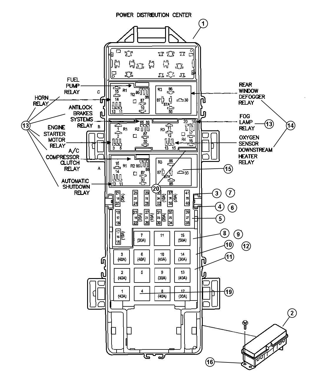 Jeep Liberty Fuse Diagram