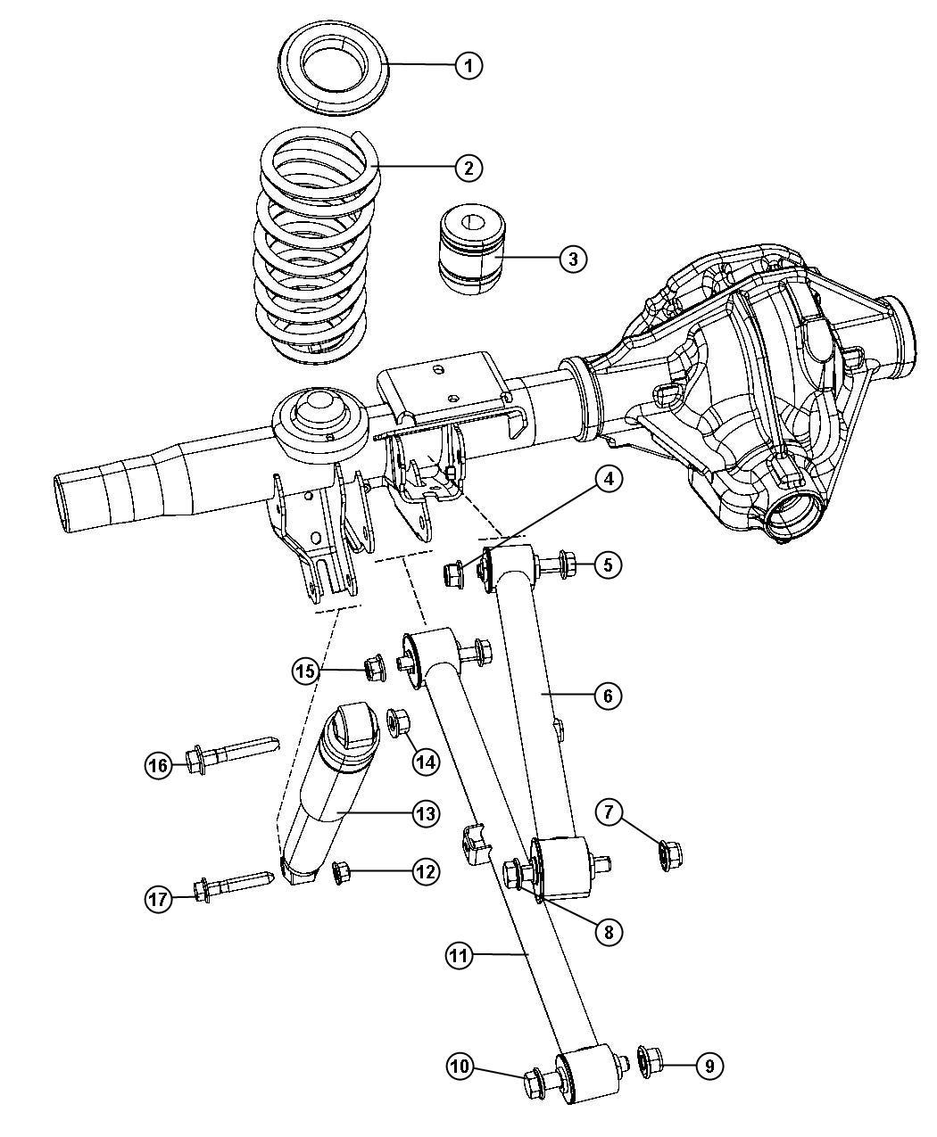 Dodge Ram Nut Hex Flange Lock M16x1 50 Mounting