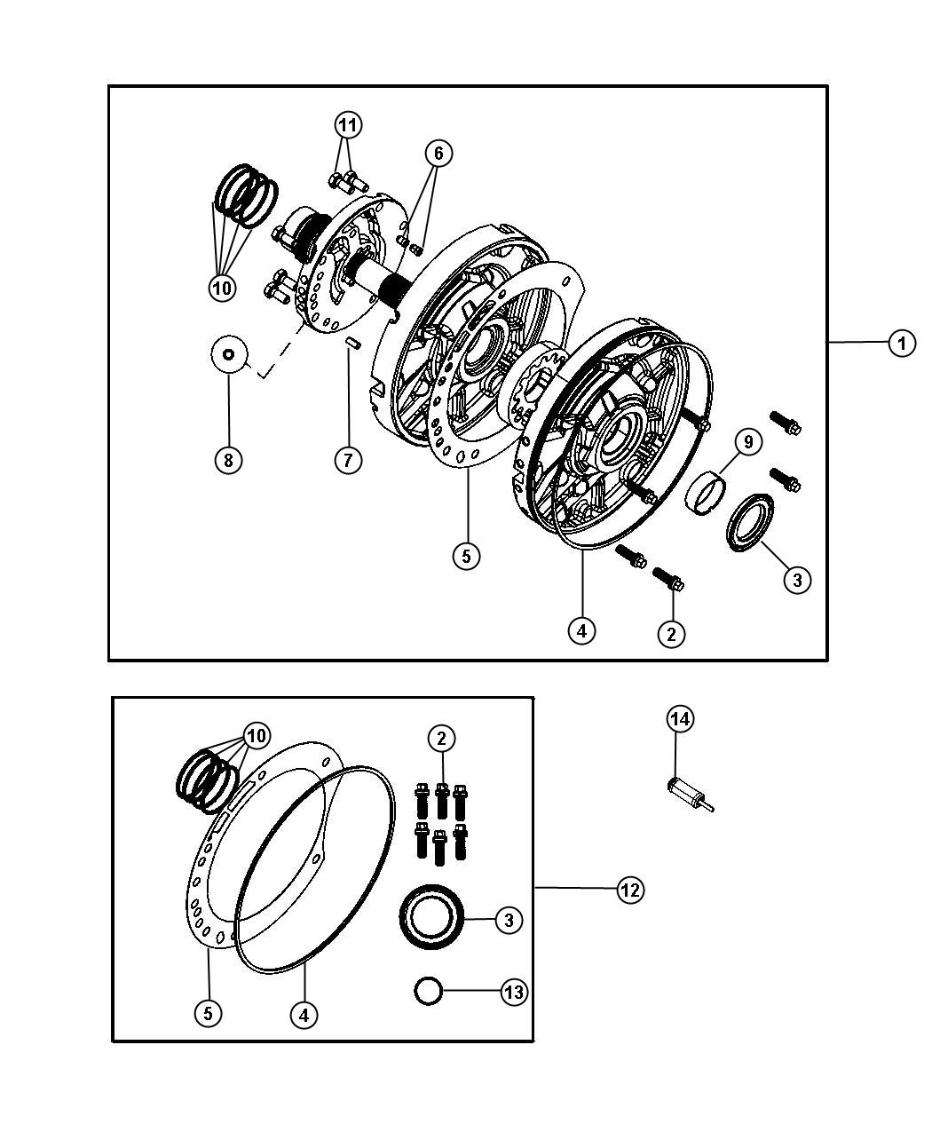 Jeep Wrangler Gasket Transmission Oil Pump Transmission Oil Pump Mounting Oil Pump