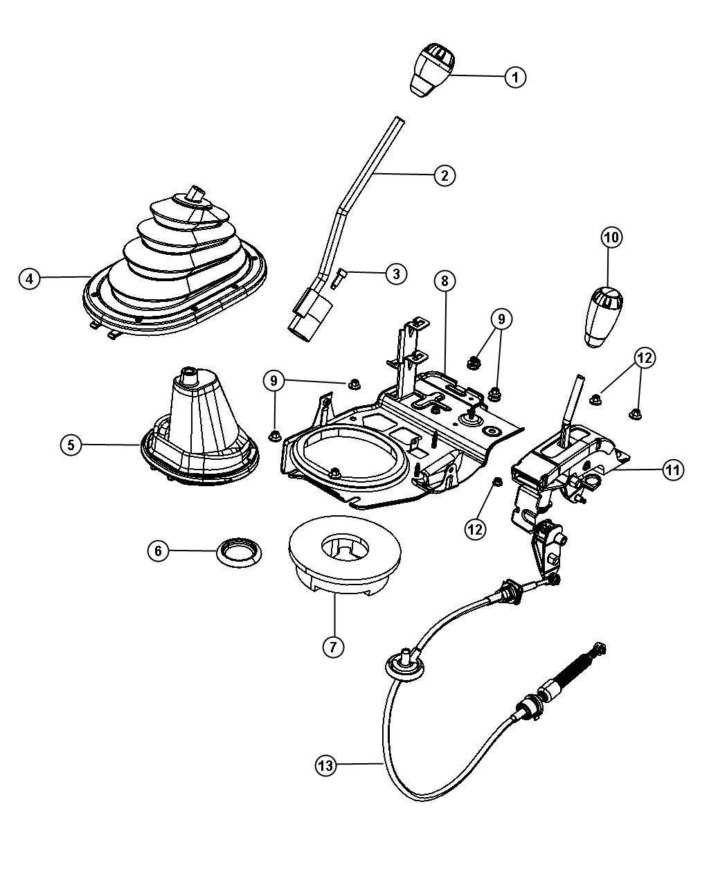 Jeep Wrangler Knob Gearshift Manual Gear Shift Control