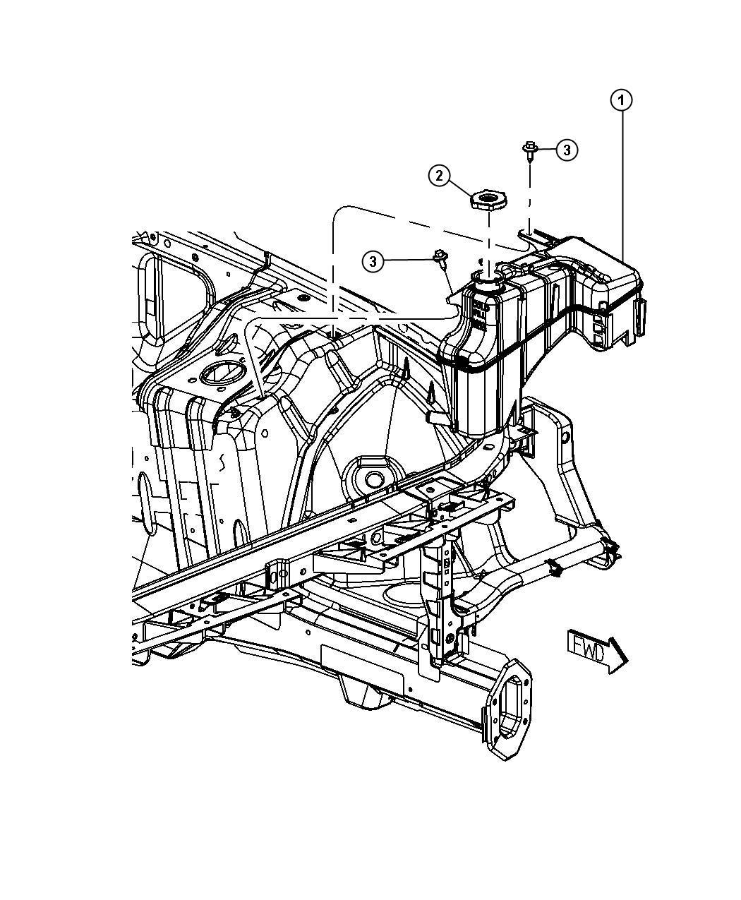Dodge Ram Bottle Coolant Recovery Engine