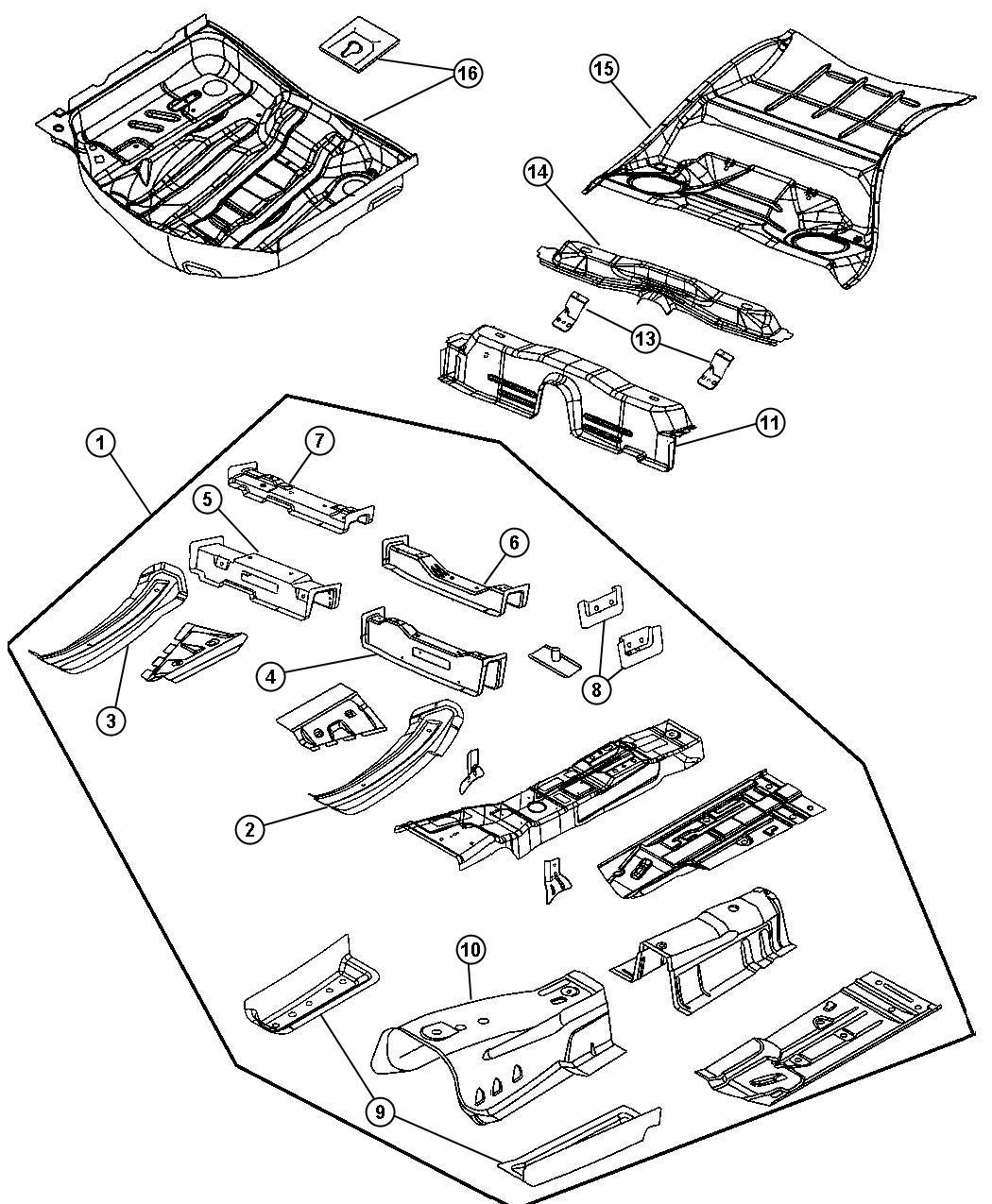 Chrysler 300 Bracket Transmission Mount Right