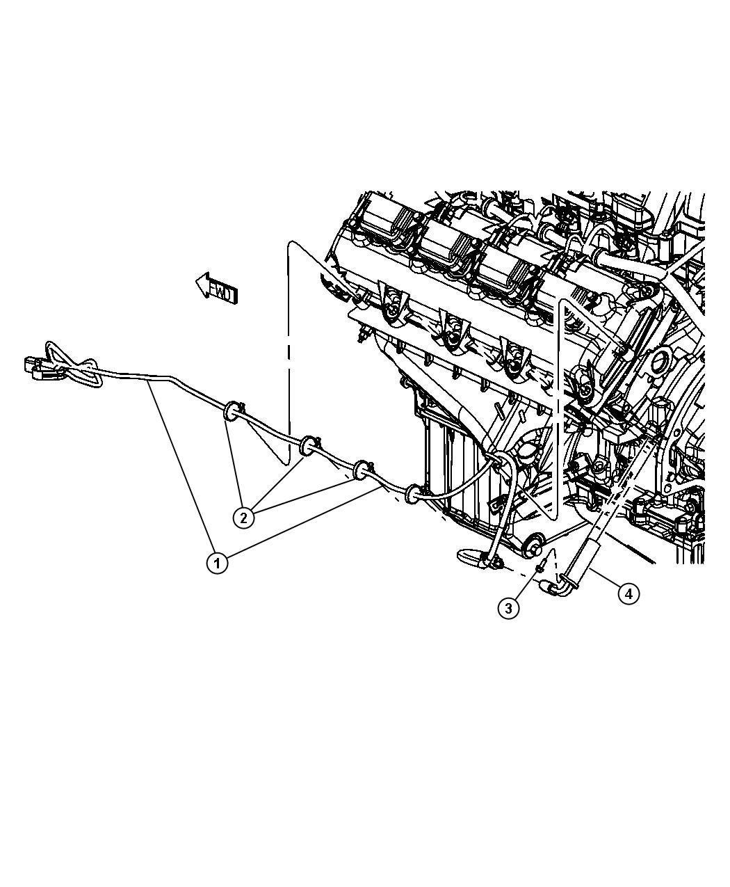 Dodge Challenger Cord Engine Block Heater Cylinder Mds