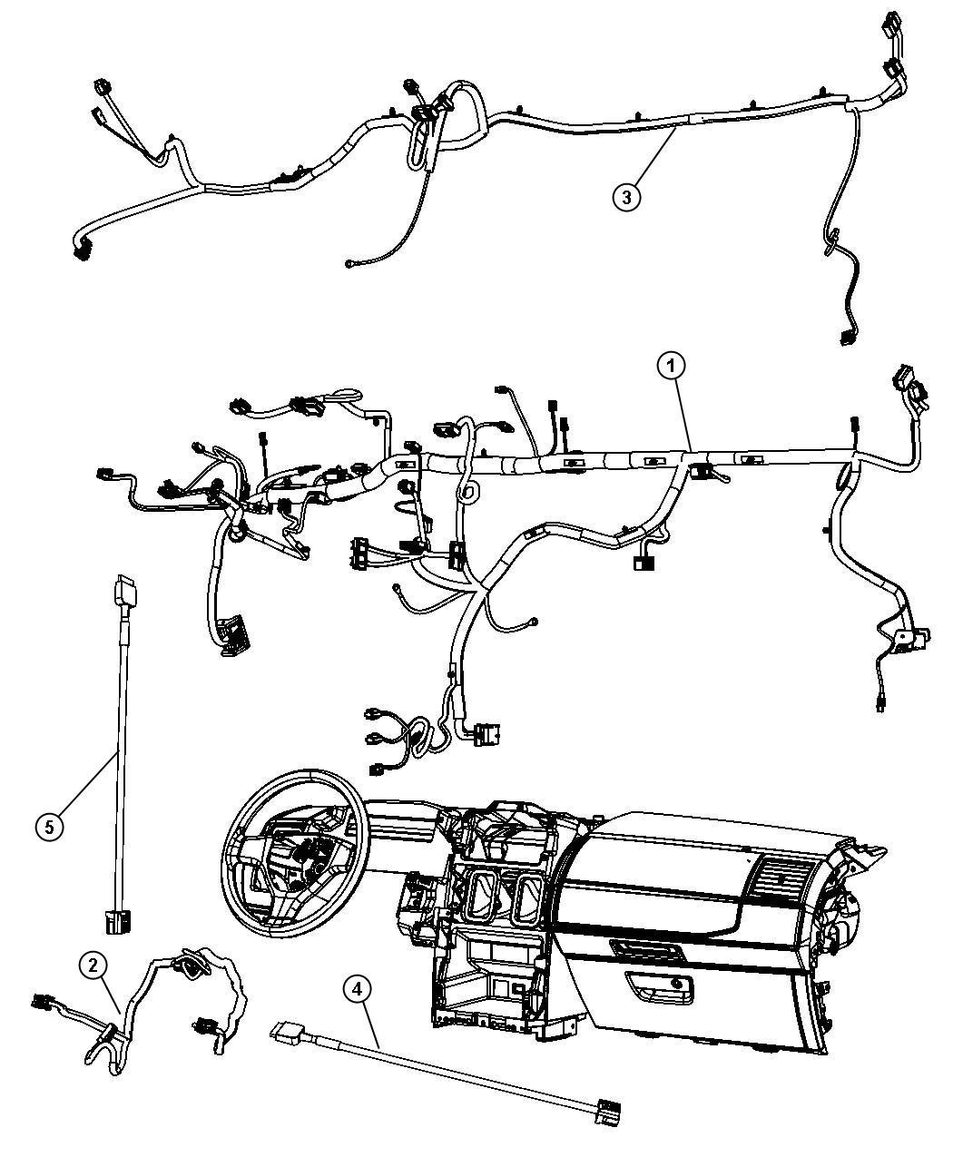 Dodge Grand Caravan Wiring Jumper Instrument Panel