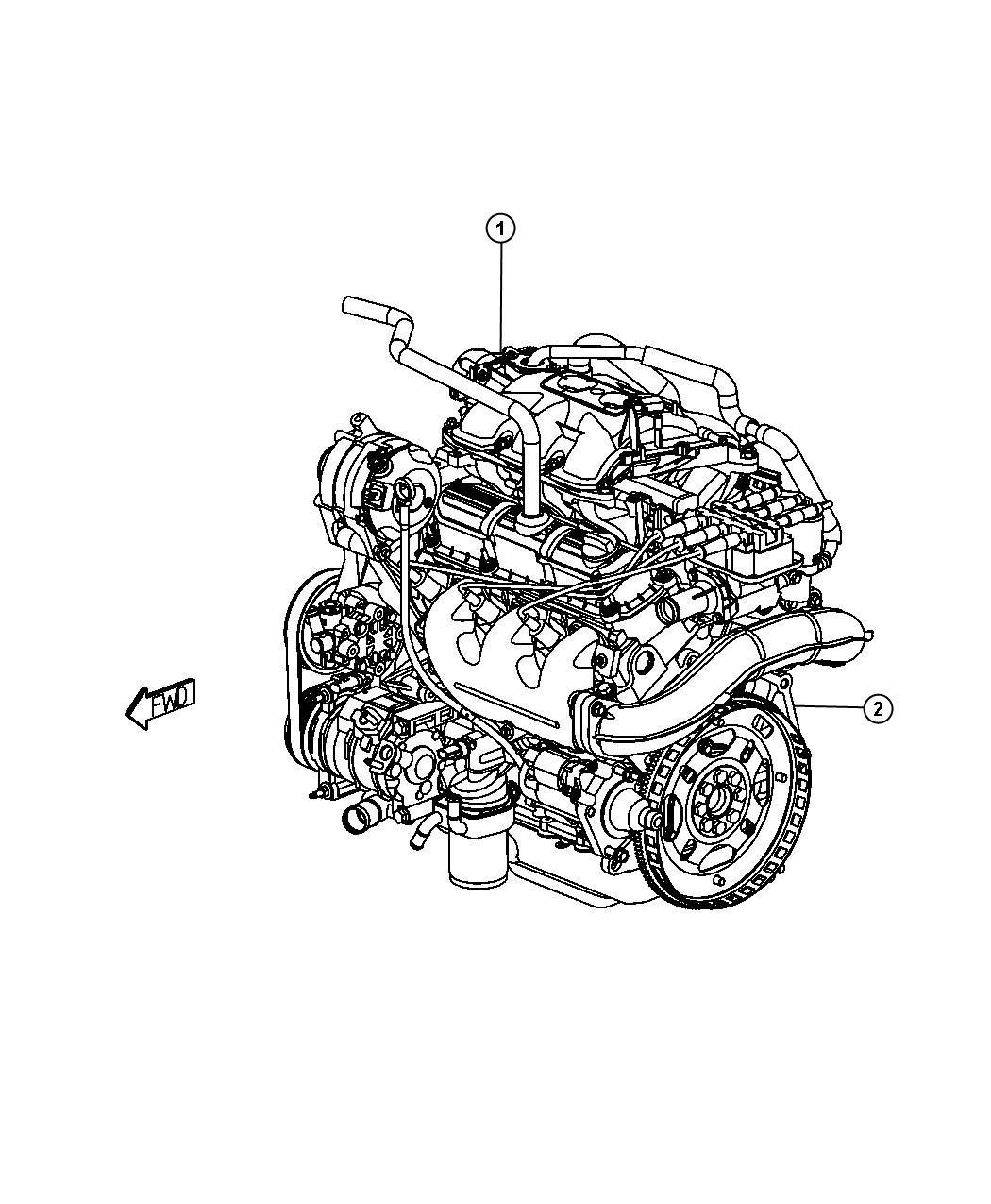 Dodge Grand Caravan Engine Long Block