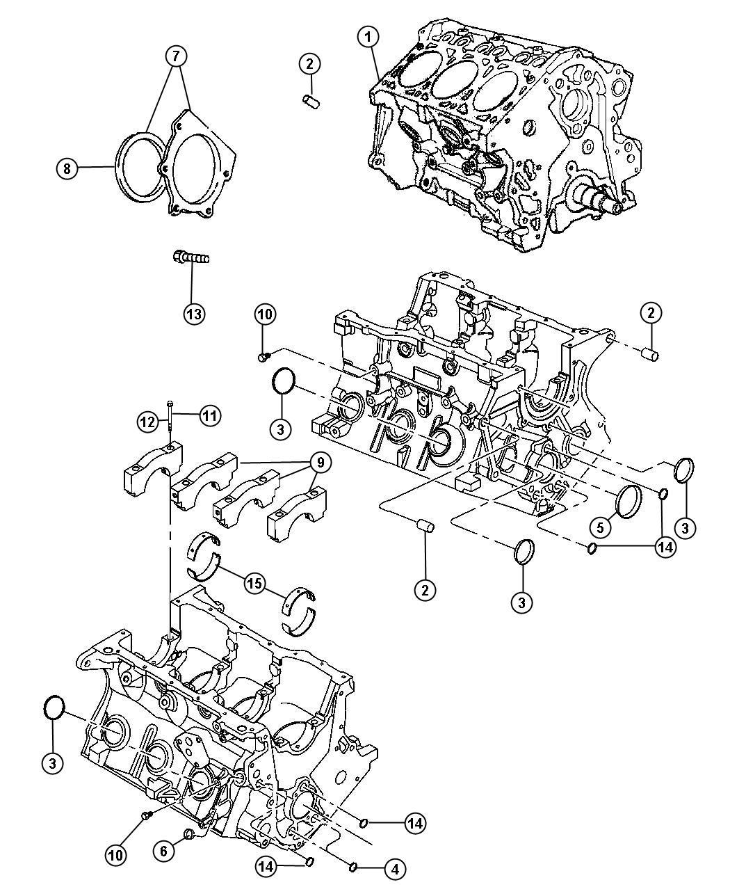 Dodge Grand Caravan Engine Short Block New Part For Core