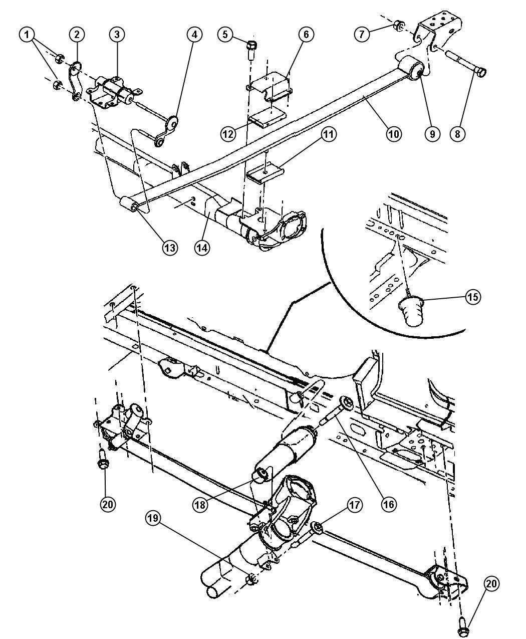 Dodge Ram Plate Spring Shackle Inboard Bench
