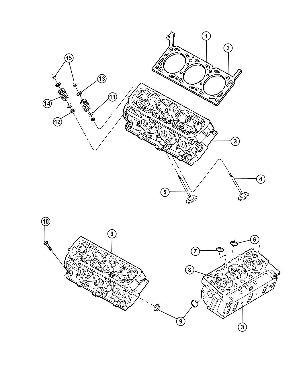 Dodge Ram Head Cylinder Used For Right And Left