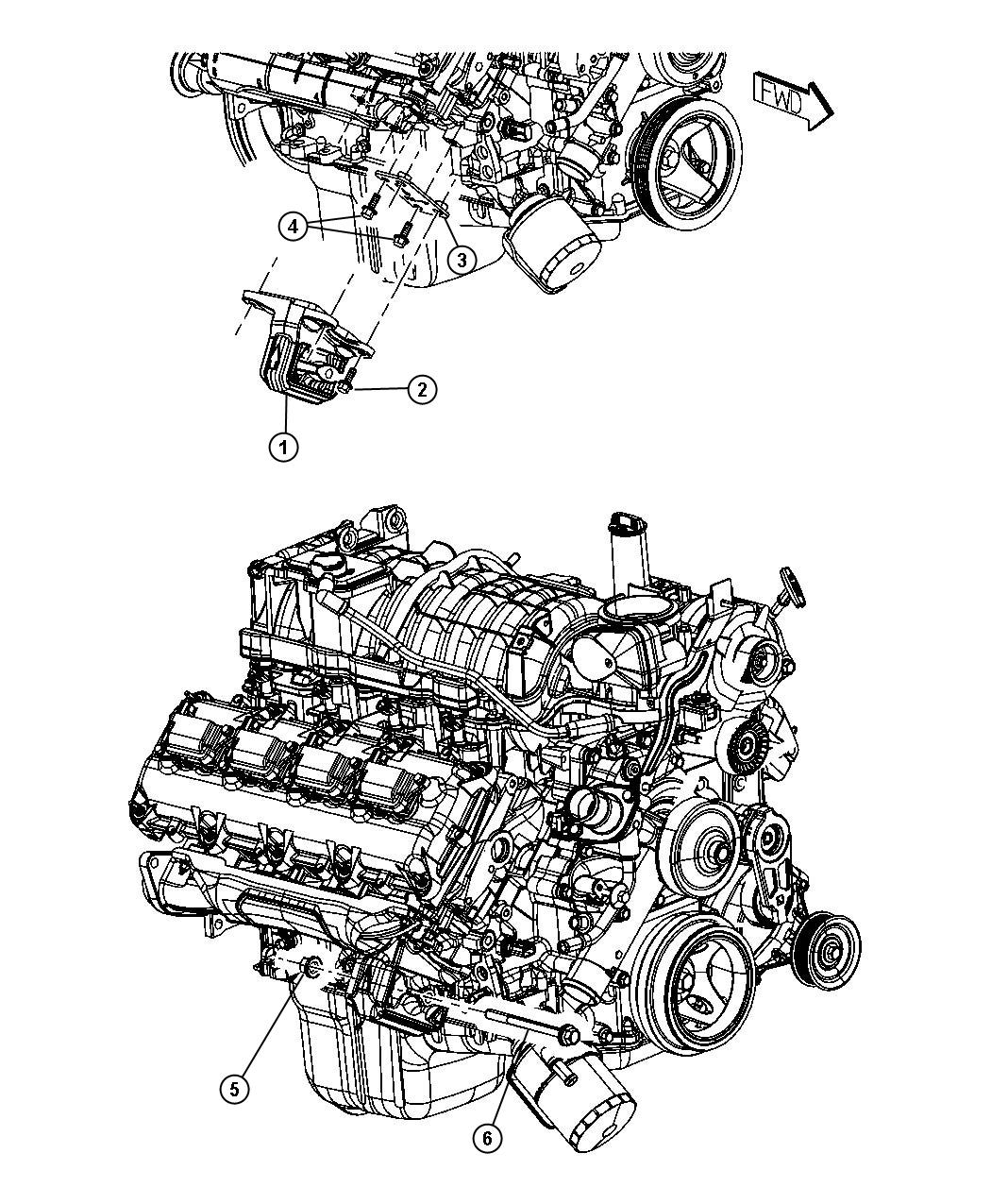 Dodge Ram Insulator Engine Mount Right Side Mounting Rwd Ezc