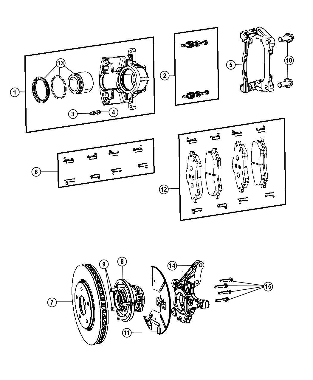Chrysler Town Amp Country Pad Kit Front Disc Brake