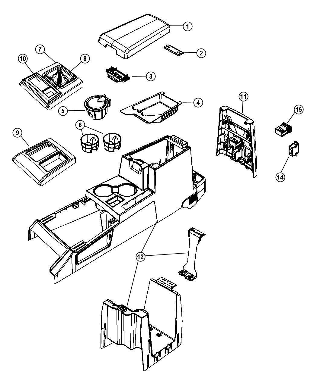 Dodge Nitro Bezel Gear Selector J8 Trim All