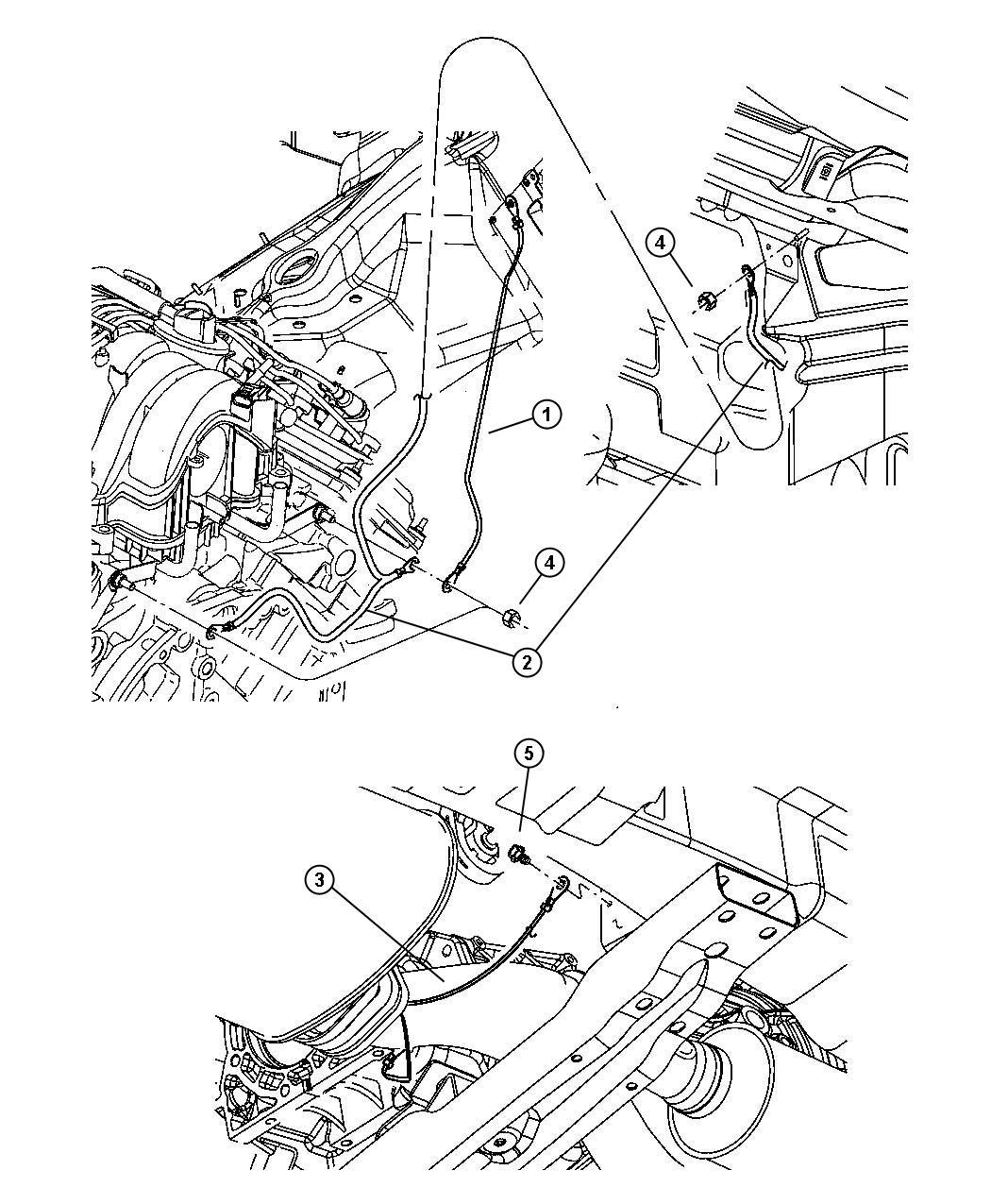 Dodge Durango Strap Ground Engine To Plenum Radio