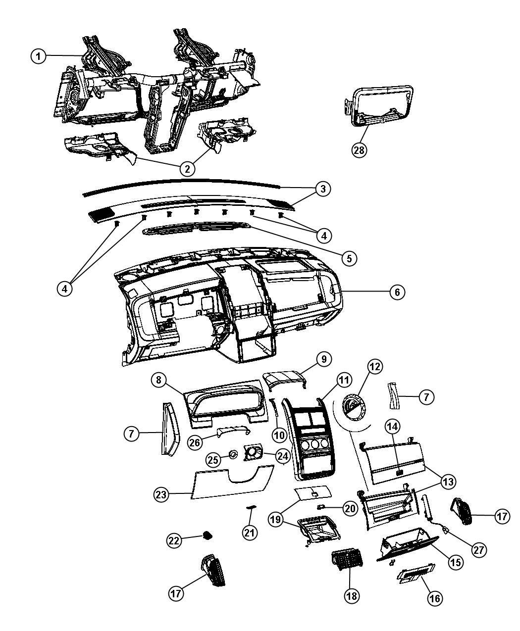 Dodge Journey Bracket Ignition Switch Ka Trim