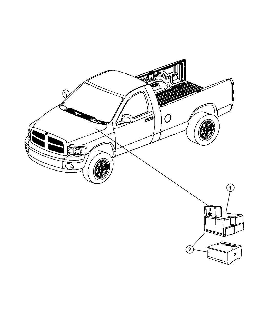 Dodge Dakota Module Anti Lock Brake System 4 Wheel