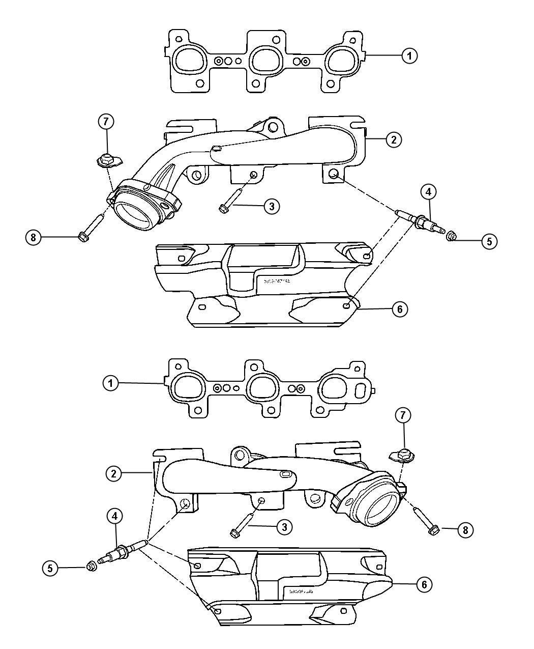 Dodge Dakota Shield Exhaust Manifold Left Left Side