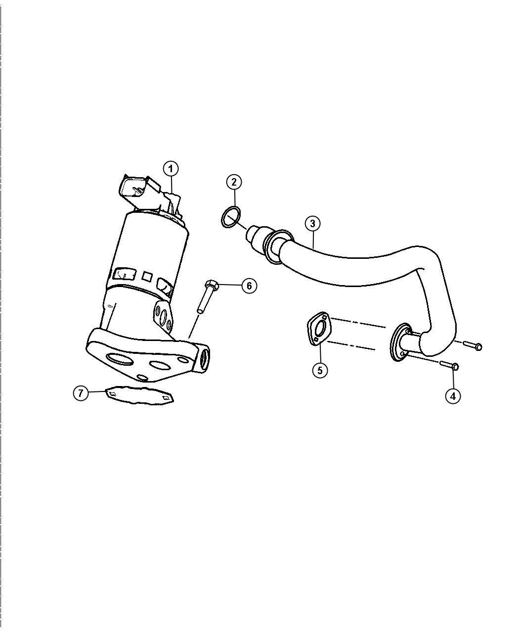 Dodge Dakota Valve Egr Related System Engine
