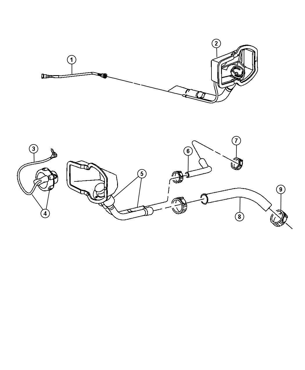 Dodge Ram Tube Fuel Filler Hose Vent Upper