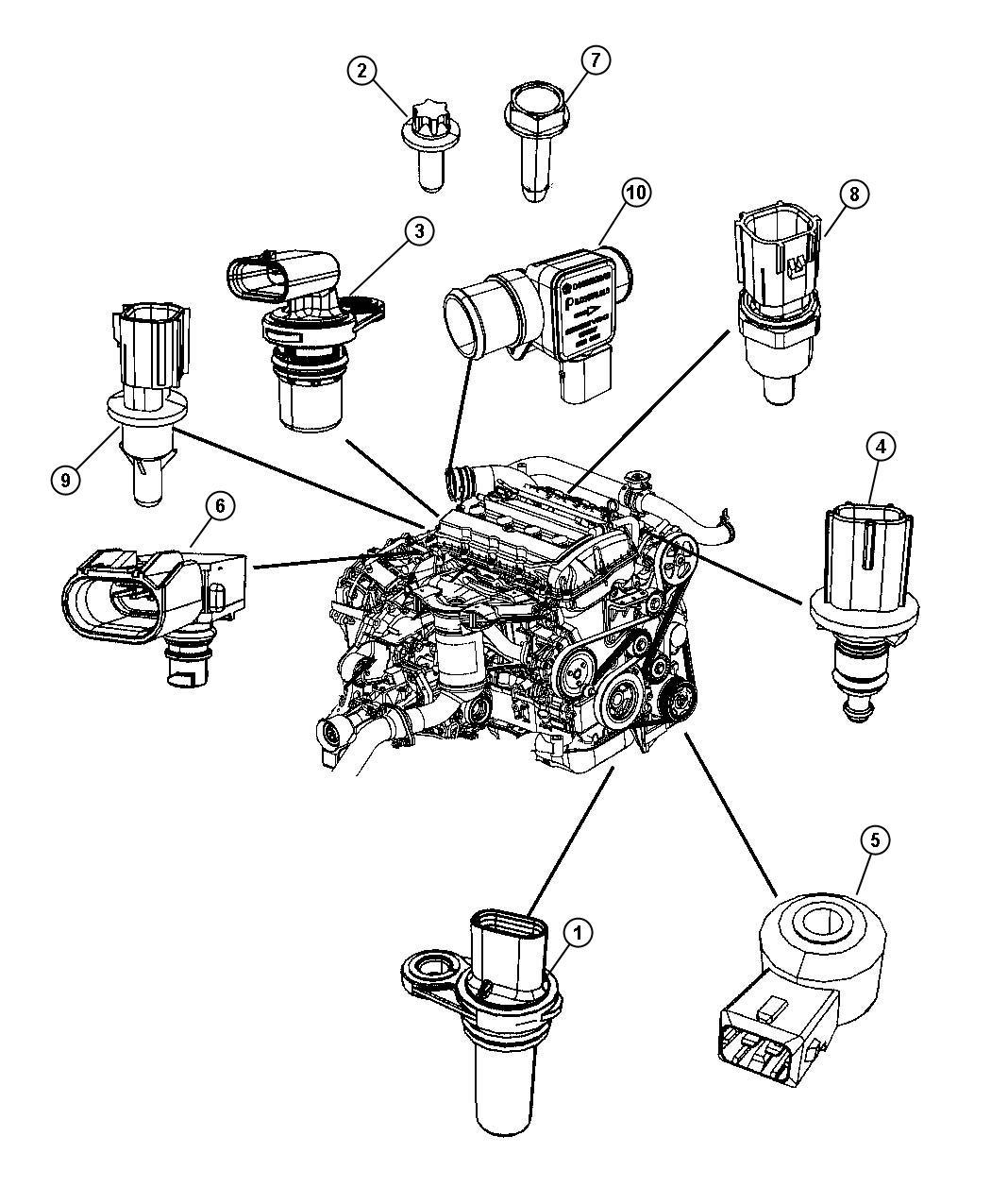 Dodge Journey Sensor Mass Airflow Sensors Engine
