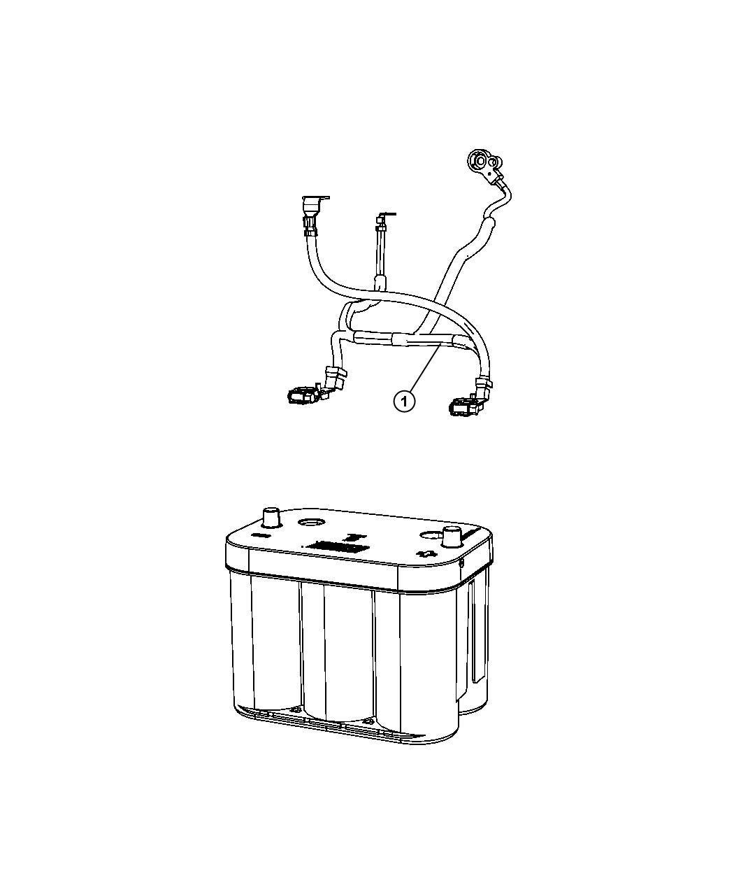 Dodge Journey Wiring Battery Tray Mopar