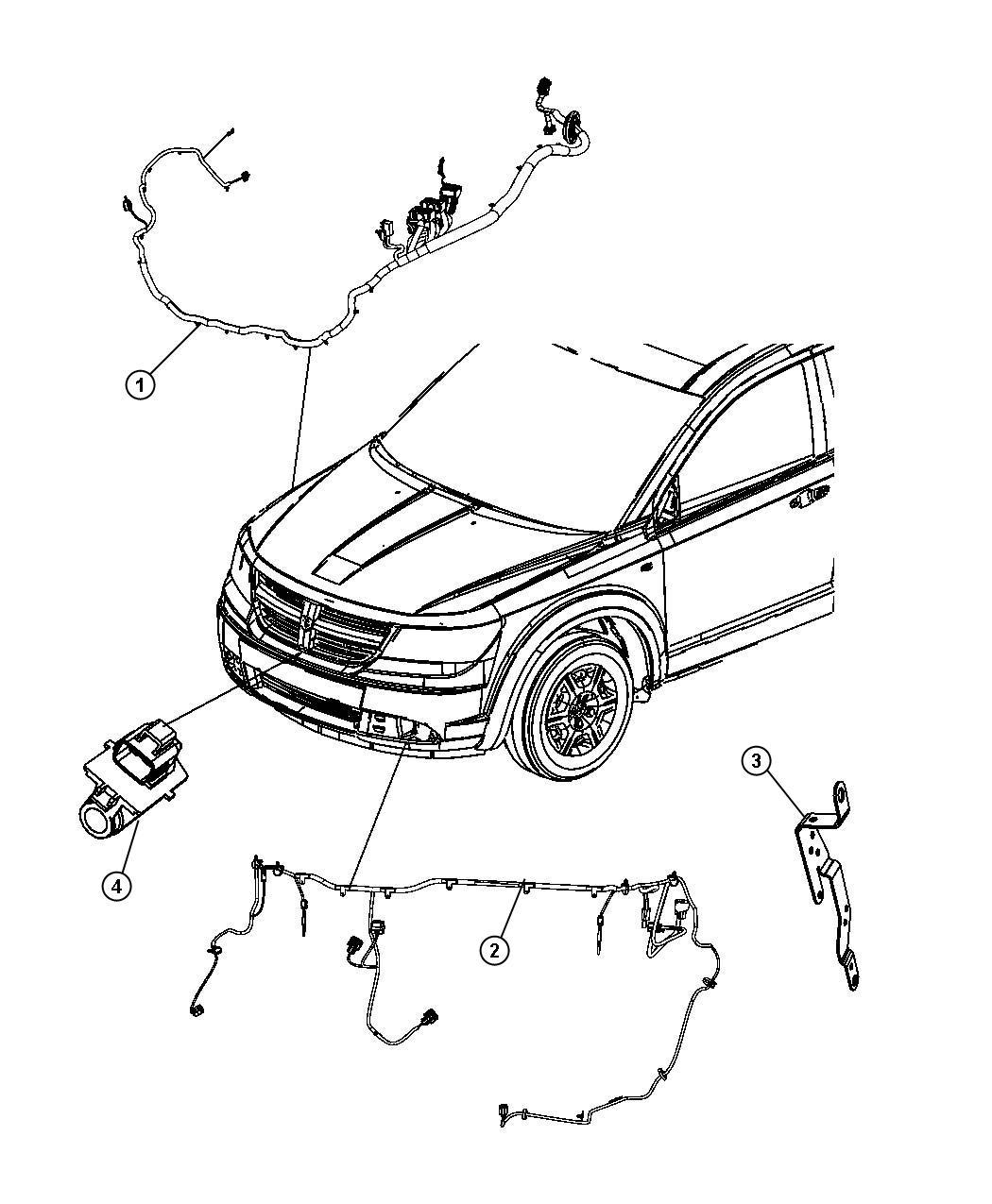 Dodge Journey Wiring Engine Compartment Export Headlamp