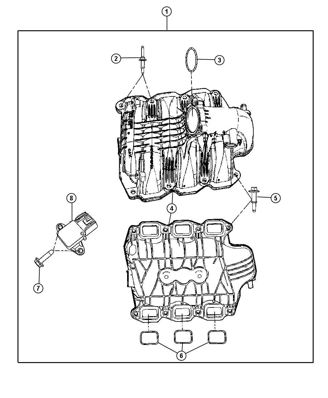 Dodge Ram Gasket Throttle Body Mounting Intake