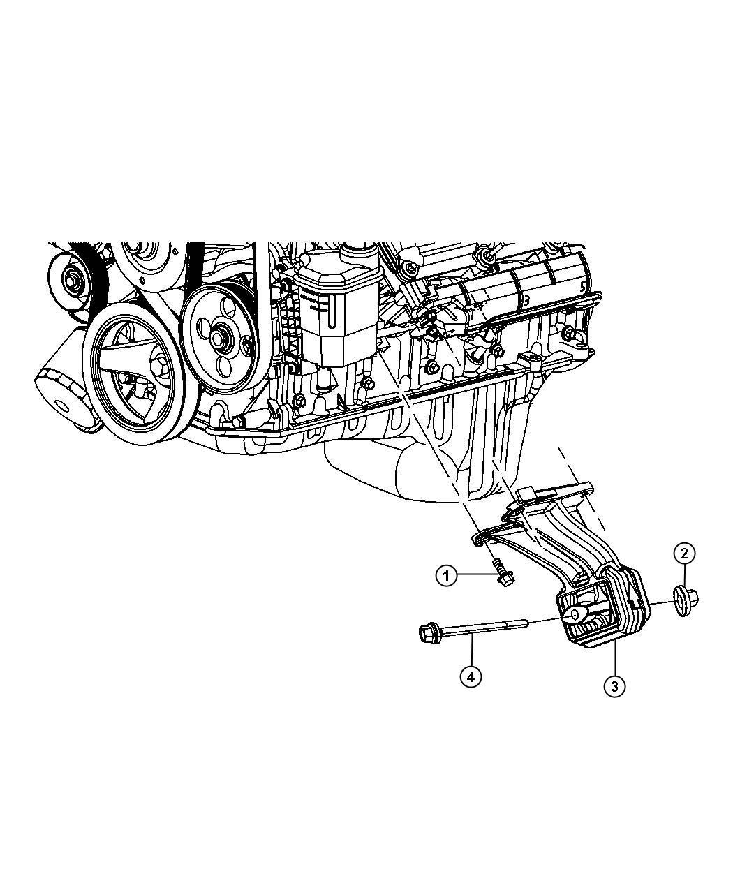 Dodge Ram Insulator Engine Mount Left Side