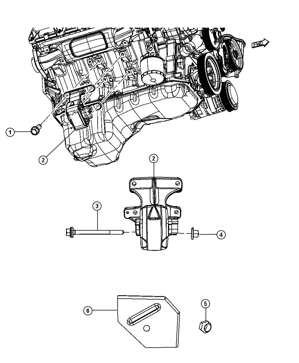 Dodge Ram Insulator Engine Mount Right Side Mds Mounting Rwd