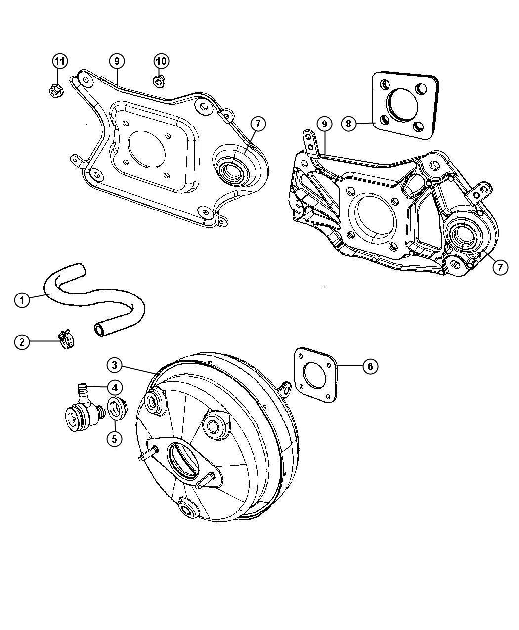 Dodge Nitro Gasket Booster To Dash Mounting Wheel