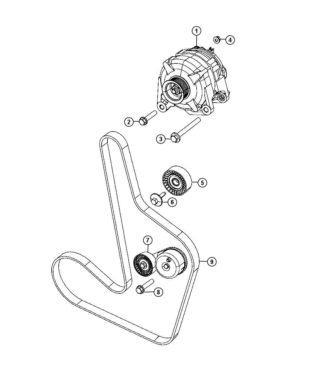 Chrysler Sebring Belt Accessory Drive Serpentine Belts