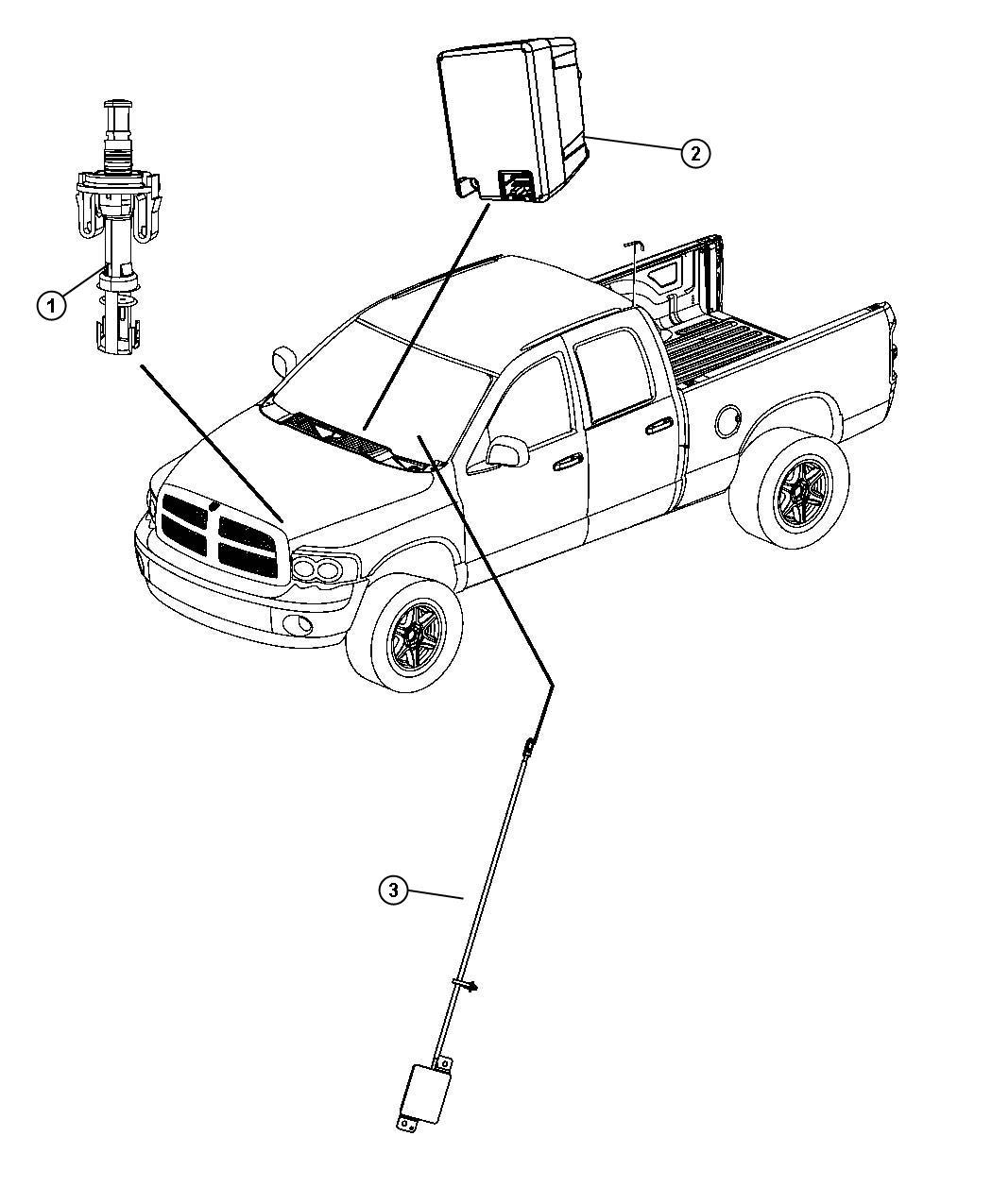 Dodge Ram Antenna Keyless Entry