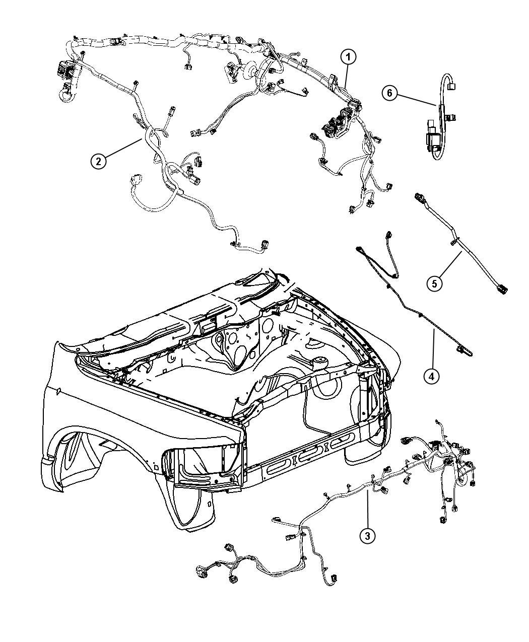 Dodge Ram Bracket Relay Module End Front