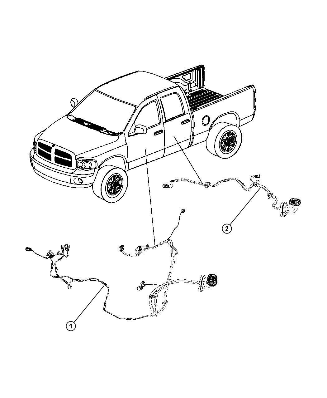 Dodge Ram Wiring Rear Door Right Power Locks