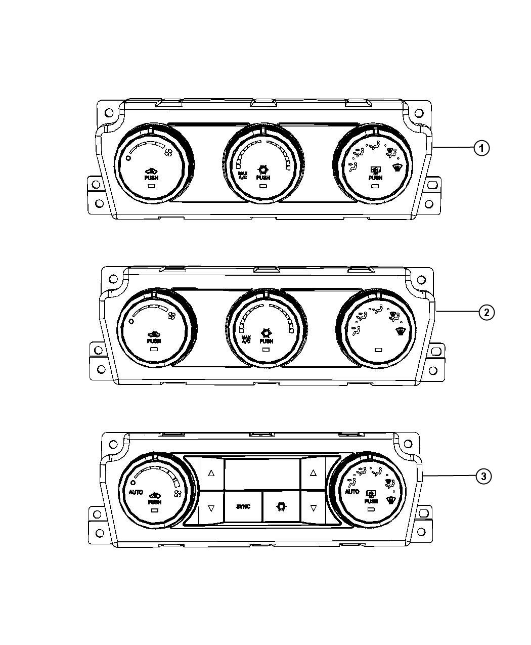 Dodge Ram Control A C And Heater Air Cond Atc