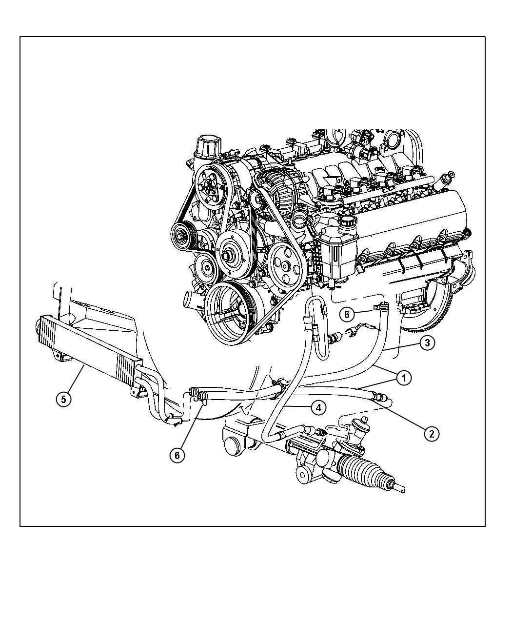 Dodge Ram Hose Power Steering Return Contains Both
