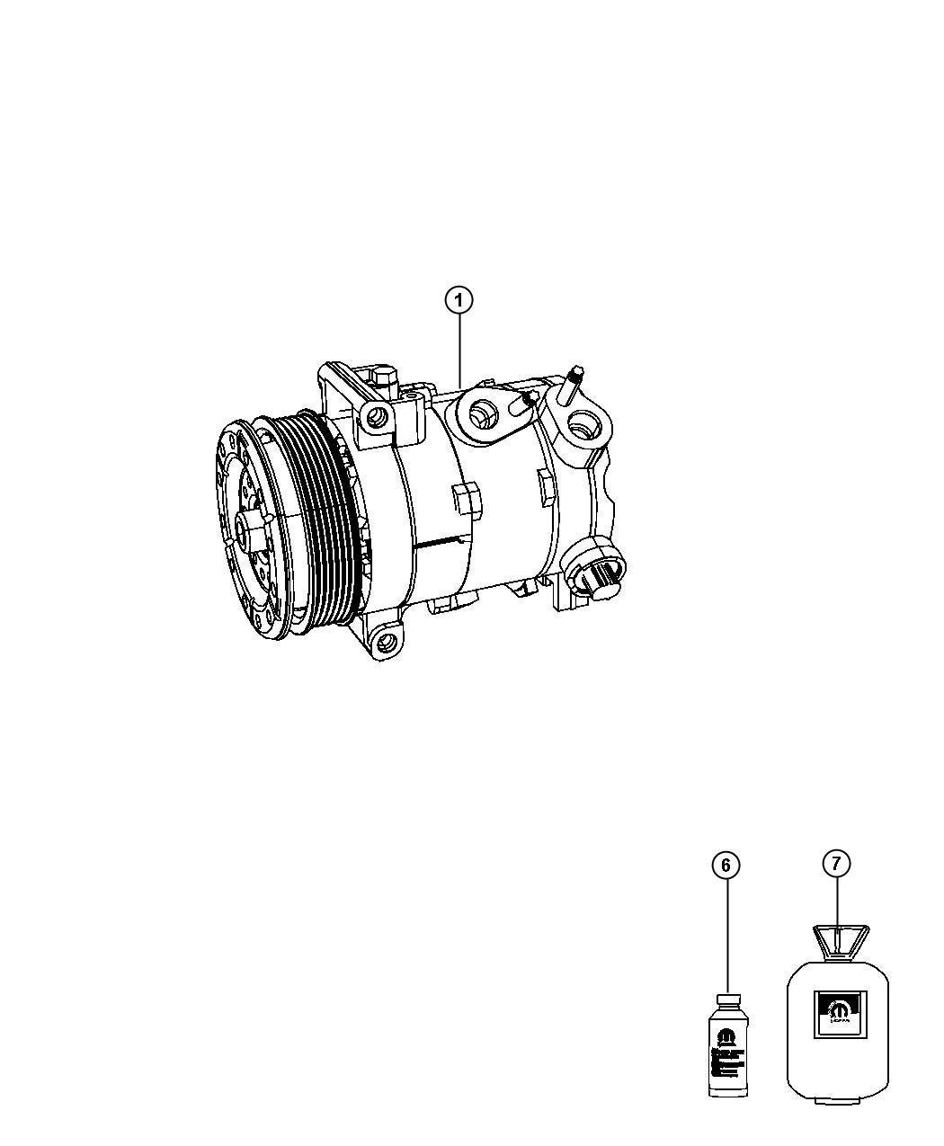 Dodge Avenger Compressor Air Conditioning Remanufactured