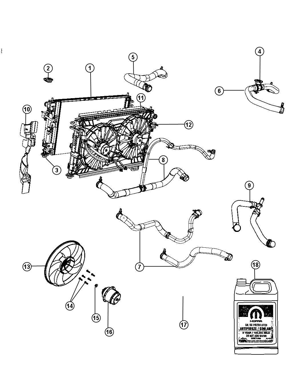 Dodge Avenger Hose Radiator Inlet Related