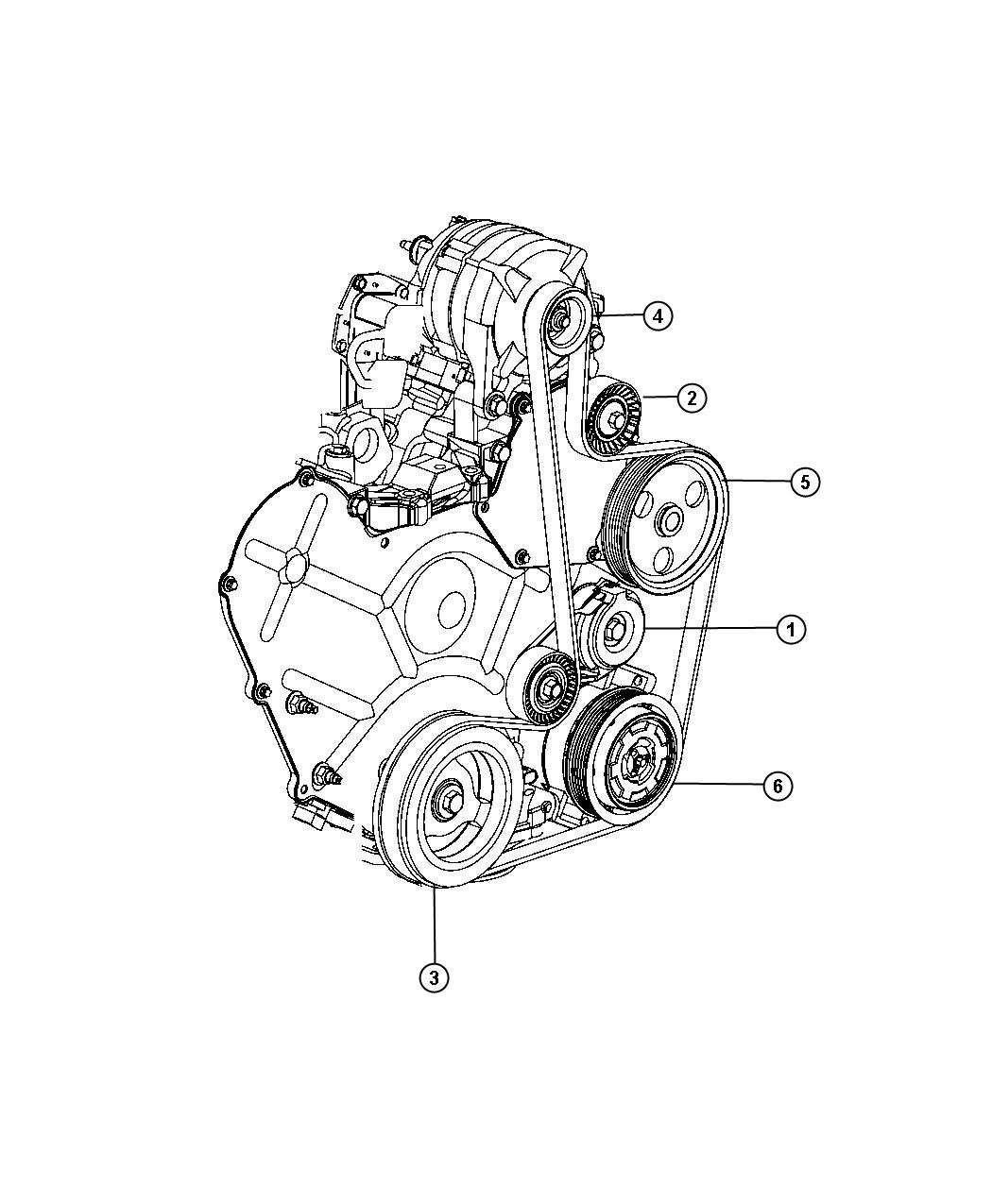 Chrysler Sebring Tensioner Belt Related Pulleys