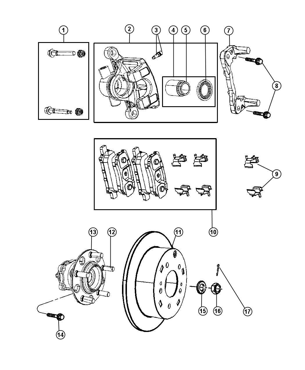 Jeep Compass Repair Rear Brakes