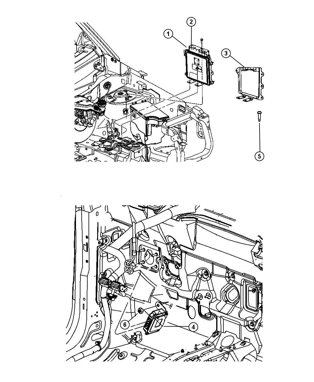 Jeep Patriot Module Powertrain Control Emissions