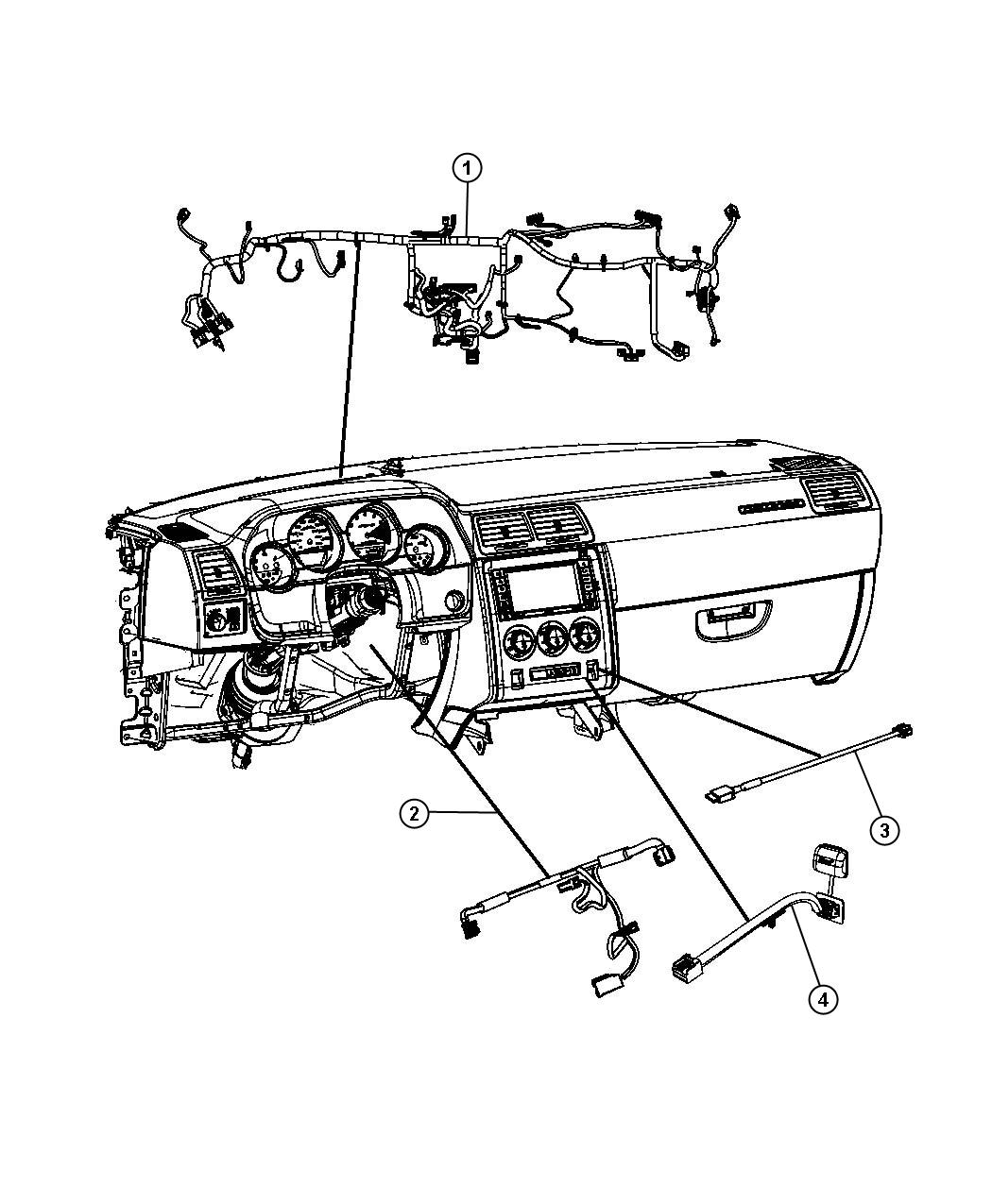 Dodge Challenger Wiring Instrument Panel 4